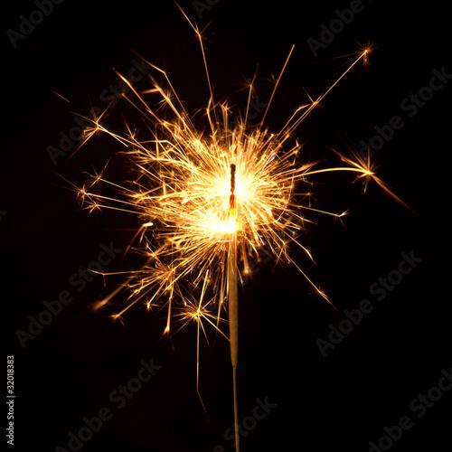 Foto op Plexiglas Vuur / Vlam Ignited Sparkler