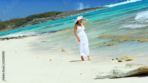 Beautiful Female on Tropical Luxury Island