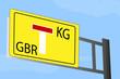 KG GbR Schild gelb
