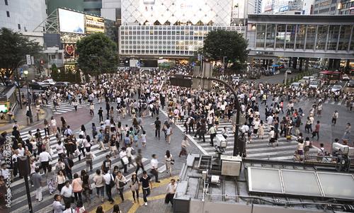 Tokyo Shibuya Crossing Rushhour