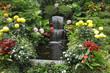 Leinwanddruck Bild - Magnificent cascade fountain