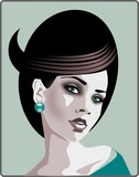 Fototapety piekna kobieta - stylizacja fryzur