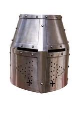 isolated knight helmet