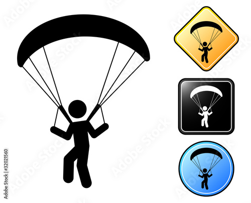 Paragliding pictogram and signs