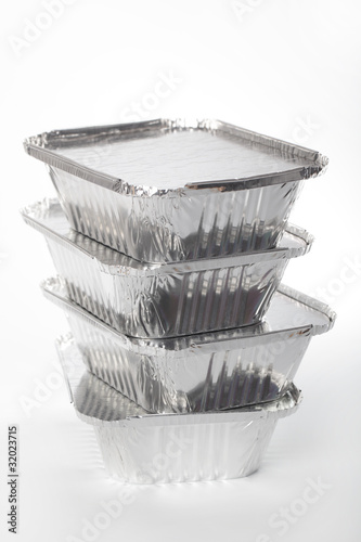 Stack of disposable pans