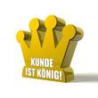 Kunde ist König! Button, Icon