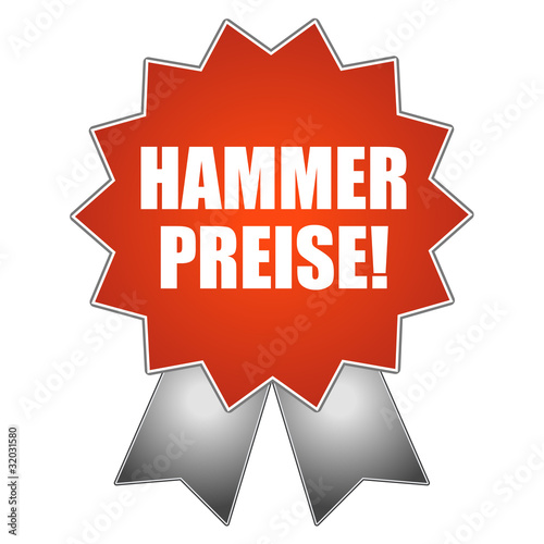Hammer Preise Schild Siegel Aufkleber Von Ben