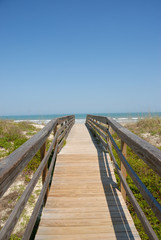 boardwalk to the beach st augustine beach florida usa