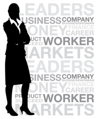 business woman background
