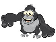 gorilla affe cartoon