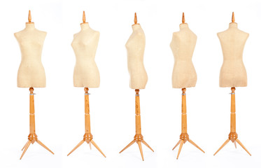 tailor mannequins isolated on white