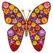 Flowers butterfly silhouette