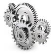 Leinwanddruck Bild - Gear wheels - dynamic