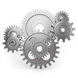 Gear wheels - dynamic side view