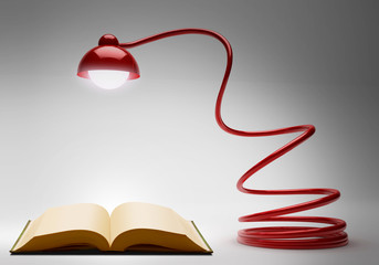 Desk Lamp and book