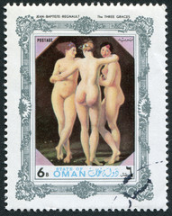 "Postage stamp State of Oman ""The Three Graces"""