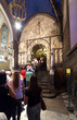 Line of people at the statue of Santa Maria de Montserrat