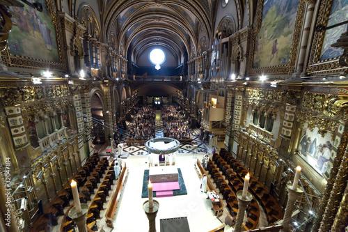 Interior of  Santa Maria de Montserrat church