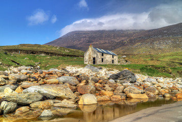 Scenery of Keem Beach on Achill Island, Co. Mayo - Irleland
