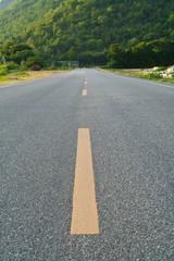 Road near the Chinese Cemetery in Kanchanaburi,Thailand