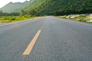 Road near the Chinese Cemetery in Kanchanaburi,Thailand