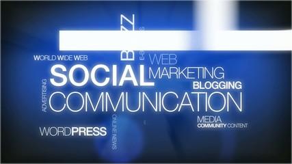 Social Media Marketing Communication animation