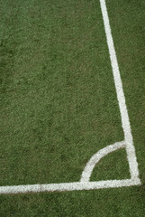 Lines on soccer field (Corner kick area)