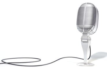 3D old Microphone