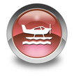 """Red Glossy Pictogram """"Sea Plane"""""""
