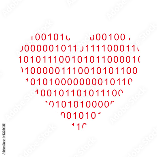 Herz Computer Freak Daten Informatik