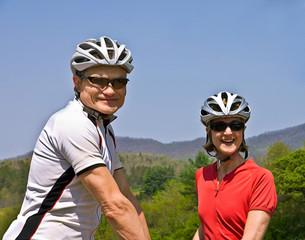 Happy Couple Bicycle Riders