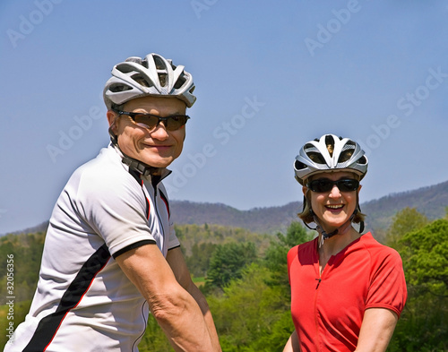 Happy Couple Bicycle Riders