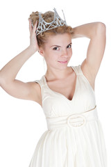 Smiling girl with crown