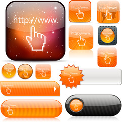 Www click orange high-detailed icons.