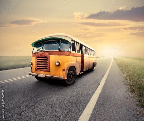 Fototapeten,verkehr,jahrgang,bus,straße