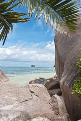 blocs granitiques aux Seychelles, anse Source d'Argent