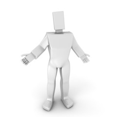 3D Man in welcome pose