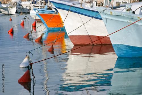 Fishing boats in Old Jaffa, Israel.