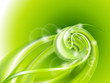 Abstract green swirl background