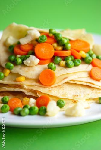 pfannkuchen und gemüse
