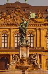 Franconia Fountain at Residence in Würzburg, Germany