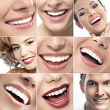 Fototapety teeth and smiles collage