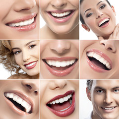 teeth and smiles collage