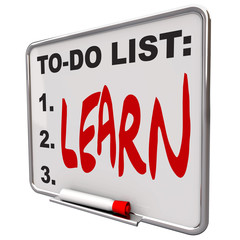 To-Do List - Learn - Dry Erase Board