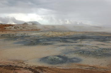 Steaming Mud Pot, Lake Myvatn, Iceland