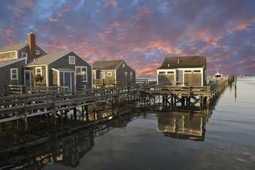 Sunset over Nantucket, Massachusetts