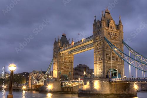 Fototapeta Tower Bridge at night, London, UK