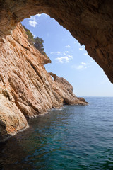 Inside  of grotto in cliff