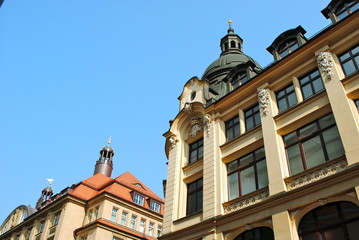Historic buildings in central Leipzig