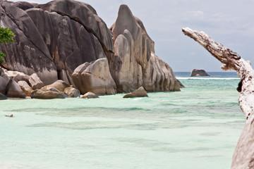 """plage exotique """"Anse Source d'Argent"""", la Digue, Seychelles"""